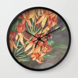 Milkweed Flowers and Milkweed Bug Wall Clock