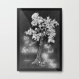 It's All Just Scribbles Metal Print