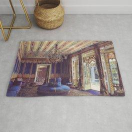 The Turkish Salon Villa Hügel Hietzing Vienna 1877 by Rudolf von Alt   Reproduction Rug
