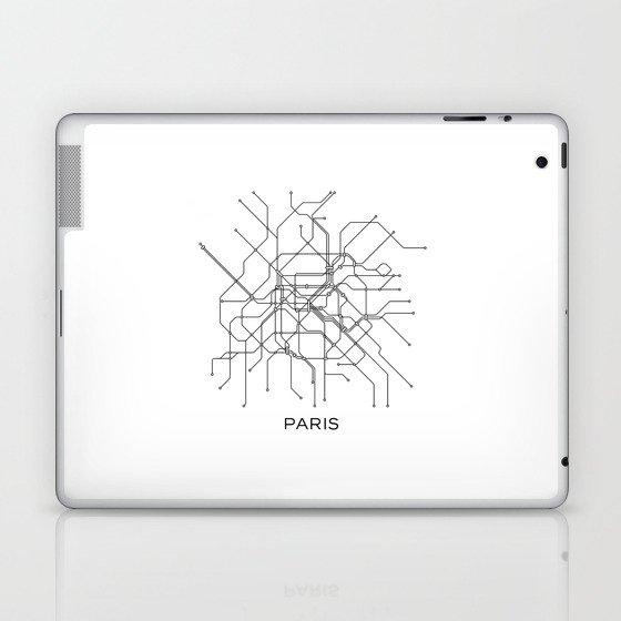 Subway Map Graphic Design.Paris Metro Map Subway Map Paris Metro Graphic Design Black And White Canvas Metropolian Art Laptop Ipad Skin By Printablelifestyle