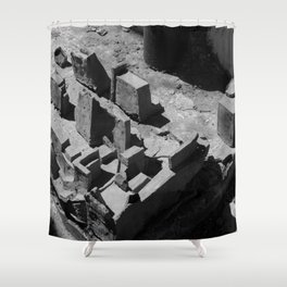 The Clay Labyrinth Ruins Shower Curtain