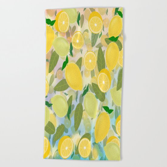 Lemon Song Beach Towel