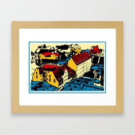 Old roofs of the European city Framed Art Print