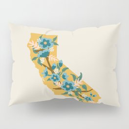 The Golden State of Flowers Pillow Sham