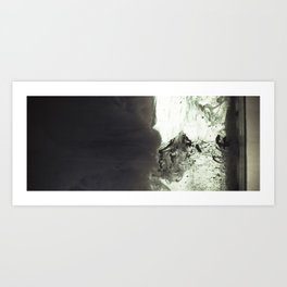 Abstract black Art Print