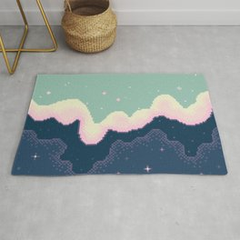 Pixel Day and Night Galaxy Rug