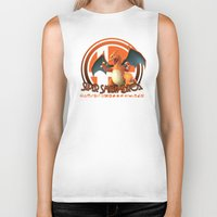 super smash bros Biker Tanks featuring Charizard - Super Smash Bros. by Donkey Inferno