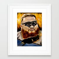 action bronson Framed Art Prints featuring action bronson by charles lee