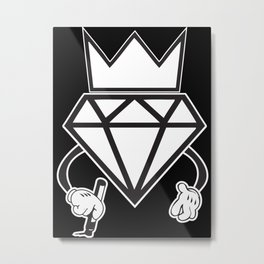 Diamond Swag Graffiti Metal Print