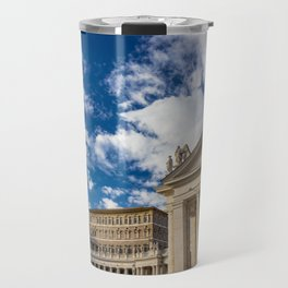 Piazza San Pietro, in the Vatican City; Rome Italy Travel Mug