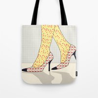 shoes Tote Bags featuring Shoes by Ben Geiger
