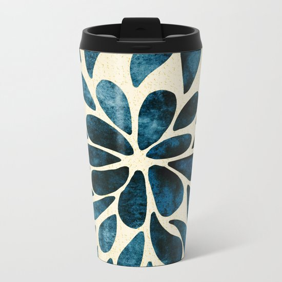 Petal Burst #5 Metal Travel Mug