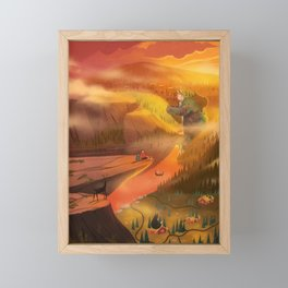 Peaceful Planting Framed Mini Art Print