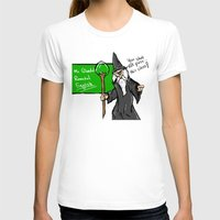 teacher T-shirts featuring Gandalf the teacher by carlosPARCE