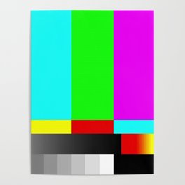 SMPTE Television TV Color Bars Poster