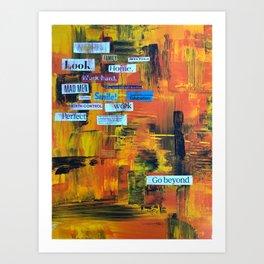 Beyond expectations Art Print