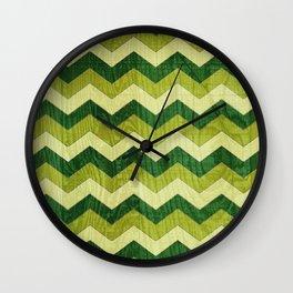 Green Wood Shuffle Wall Clock