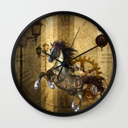 Awesome steampunk horse Wall Clock