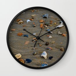 Shades of Shells on the Sand Wall Clock