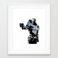 garrus Framed Art Prints featuring Garrus Vakarian by Logan Niblock