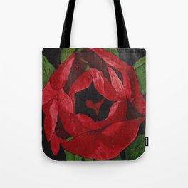 """Painted on Silk  """"Unfurling Beauty"""" Tote Bag"""
