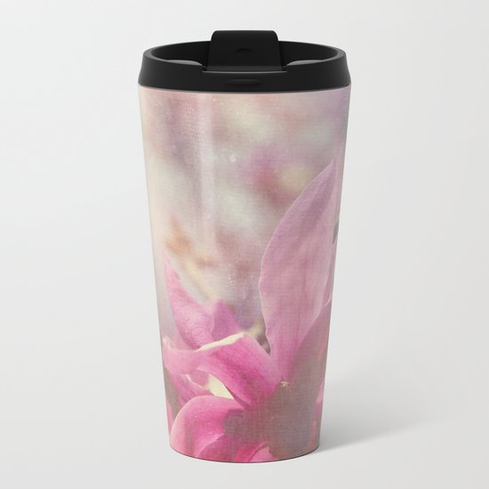 Her Heart Bloomed with Love in the Spring Metal Travel Mug