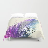 feather Duvet Covers featuring Feather  by Monika Strigel