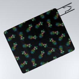 Iridescent pineapples Picnic Blanket