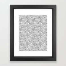 urban winter Framed Art Print