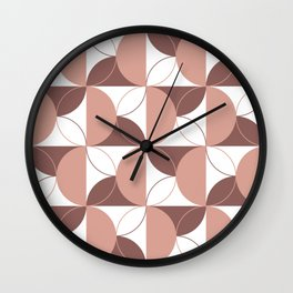 Geometric Spirals I Wall Clock