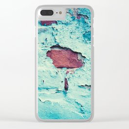 Turquoise Grunge Texture 5 Clear iPhone Case