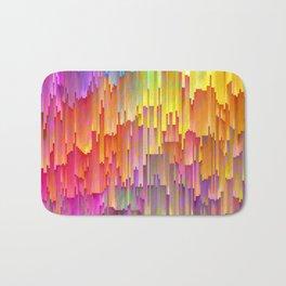 Vibrant Rainbow Cascade Design Bath Mat