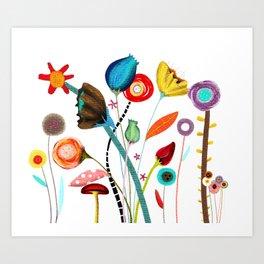 Wedding Ranunculus Bouquet Art Print