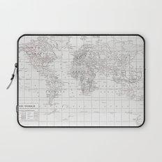World Map ~ White on White Laptop Sleeve