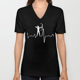 Archery Bowhunting Heartbeat T-Shirt Unisex V-Neck