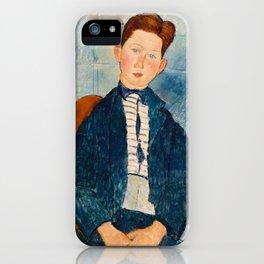 Boy in a Striped Sweater, Amedeo Modigliani iPhone Case