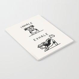Inhale Exhale Schnauzer Notebook