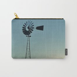 Sunset Glow On Windmill Carry-All Pouch