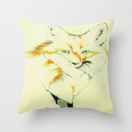 Fading Fox Throw Pillow