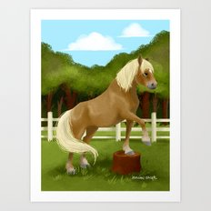 Trick Horse Art Print