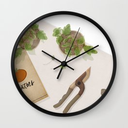 Feed Your Soul Tomatoes Wall Clock