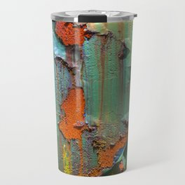 Flaking Paint on Rust Travel Mug