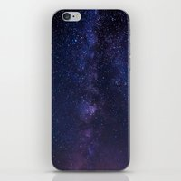 milky way iPhone & iPod Skins featuring Milky Way by Jon Bilous