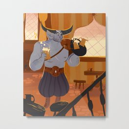 iron bull Metal Print