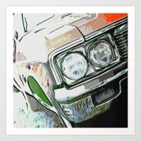 tame impala Art Prints featuring Impala by Brandi Fitz Arts