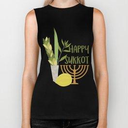 Sukkot Shalom Best Wishes for the Sukkot Holiday Biker Tank