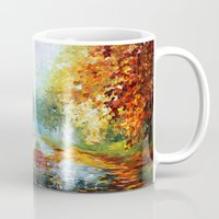 fandom Mugs featuring starry Autumn blue phone box Digital Art iPhone 4 4s 5 5c 6, pillow case, mugs and tshirt by Three Second