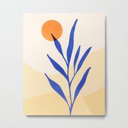 Desert Flora Sunset Metal Print