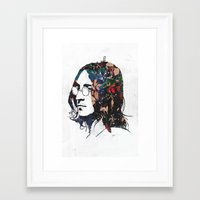 dreamer Framed Art Prints featuring Dreamer by Alex Cherry
