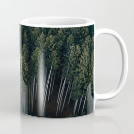 Aerial Photograph of a pine forest in Germany - Landscape Photography Coffee Mug